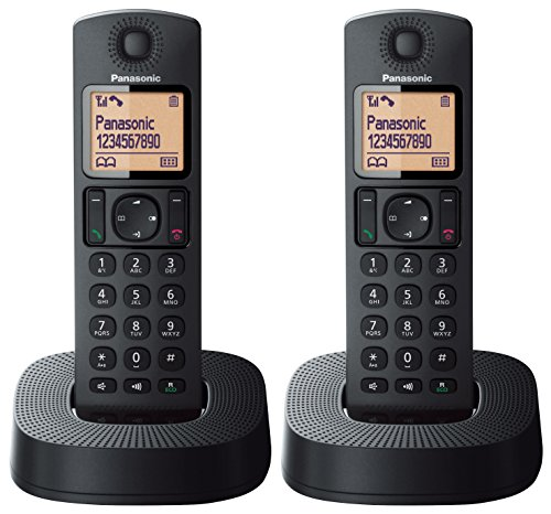 Panasonic KX-TGC312EB Digital Cordless Phone with Nuisance Call Blocker - Black, Pack of 2 from Panasonic