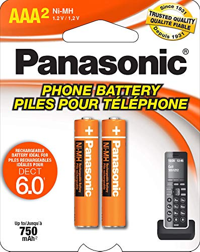 Panasonic Original Ni-MH Rechargeable Battery for the Panasonic KX-TG2511ET - KX-TG2512ET & KX-TG2513ET And Other DECT 6.0 Digital Cordless Phone Set from Panasonic