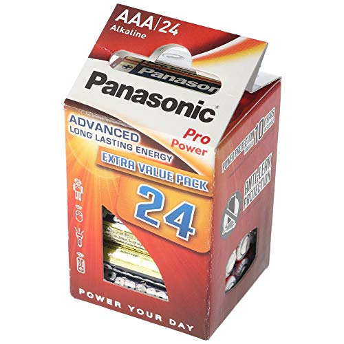 Panasonic Pro Power Micro AAA , pack of 24 (6x Blister pack of 4) from Panasonic