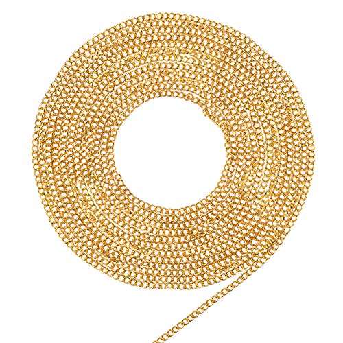 PandaHall Elite 5 Meter Brass Twist Chains Curb Chains Size 3x2mm Jewelry Making Chain Golden from PandaHall