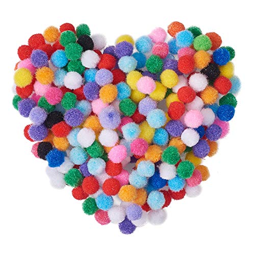 PandaHall Elite about 2000pcs 10mm Mixed Color DIY Doll Craft Yarn Pom Pom Balls for DIY Craft Making and Decoration from PandaHall