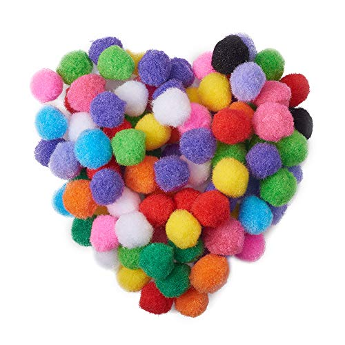 PandaHall Elite 500pcs 20mm Multicolor Pom Poms Assorted Pompoms Wiggle Eyes for DIY, Crafts and Decorations from PandaHall