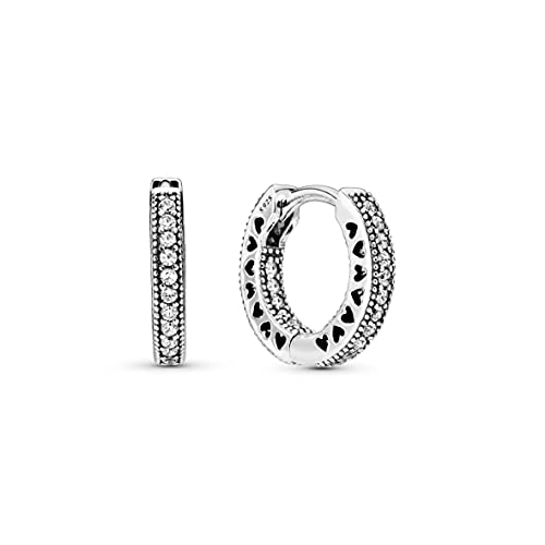 Pandora Women Silver Hoop Earrings - 296317CZ from Pandora