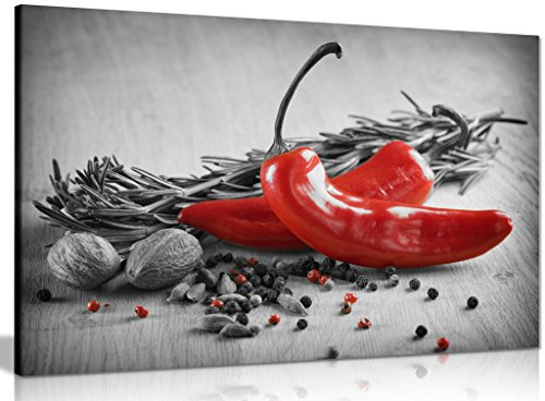 Herbs & Spices Kitchen Canvas Wall Art Picture Print (12x8in) from Panther Print
