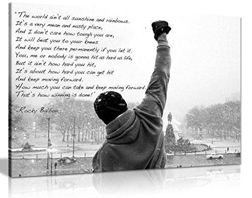 Rocky Canvas Print Hope Quote Canvas Wall Art Picture Print (30x20in) from Panther Print