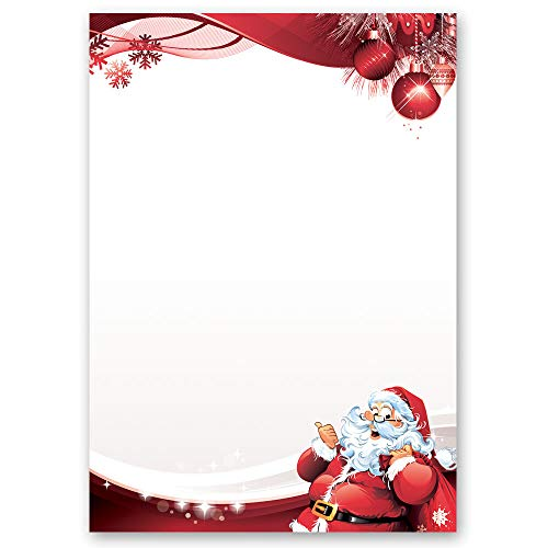 motif paper stationery paper letter to santa claus 50 sheets din a4 90gm