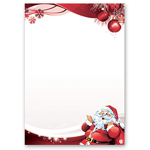 Stationery paper LETTER TO SANTA CLAUS DIN A5 paper format 50 sheets from Paper-Media