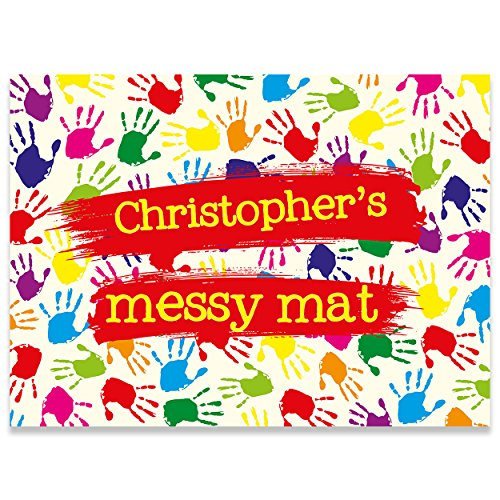 Paper Themes Play Mat playdoh mat Kids Messy Mat Paint sheet Playdough mat Arts and crafts splash mat - Messy Hands LARGE from Paper Themes