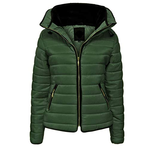 Parsa Fashions® Girls Jacket Kids Stylish Padded Puffer Bubble Fur Collar Quilted Warm Thick Coat Jackets Age 7 8 9 10 11 12 13 Years (7/8, Khaki) from Parsa Fashions