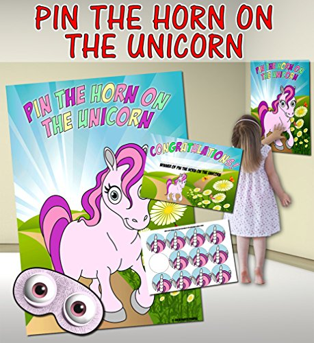 Pin the Horn on the Unicorn (Pin the tail on the donkey style game) from Party People