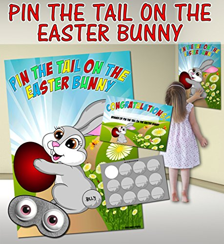 Pin the Tail on the Easter Bunny (Pin the tail on the donkey style game) from Party People