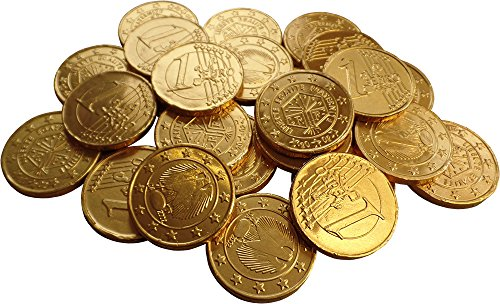 Gold Milk Chocolate Euro Coins (Pack Of 24) from Party2u