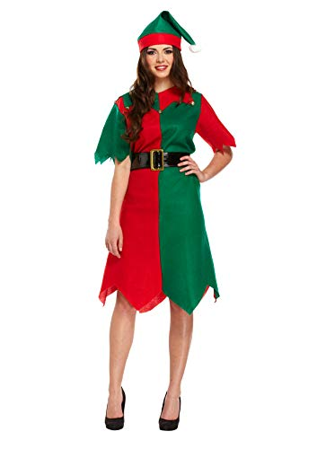 LADIES TUNIC ELF CHRISTMAS FANCY DRESS COSTUME XMAS CHEEKY WORKSHOP HELPER S-XL UK SIZE 8-22 (EXTRA LARGE) from HENBRANDT