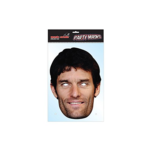 Mark Webber Celebrity Cardboard Face Mask – Single (Mask/Headpiece from Mark