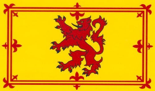 Scotland Flag Display 5ft x 3ft Scottish Lion - Flag: 5ft x 3ft Scottish Lion from Partyrama
