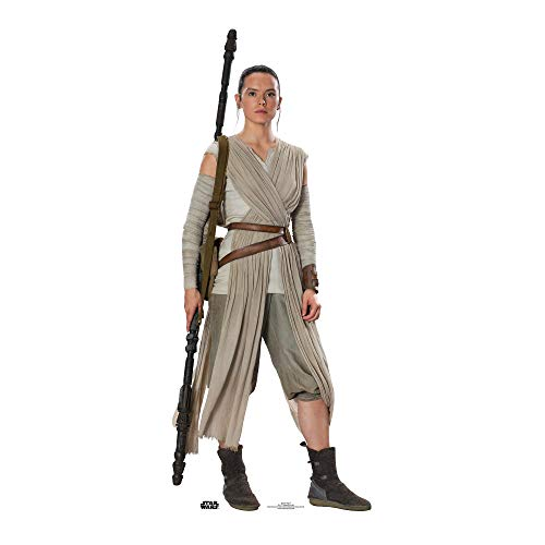 Official Star Cutouts Star Wars Rey Daisy Ridley (SW:TFA)  Lifesize Cardboard Cut Out from STAR CUTOUTS