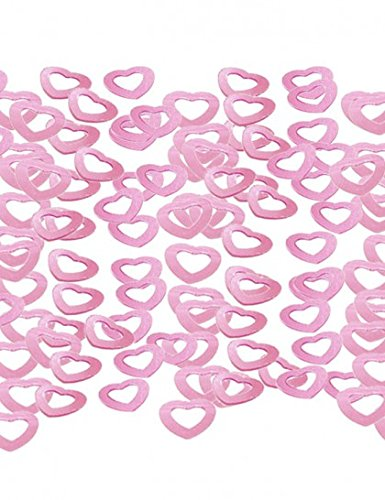 Wedding Hollow Hearts Table Confetti Pink from Partyrama