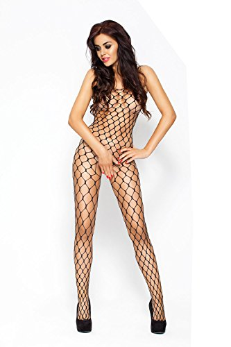 Passion Black Net Bodystocking with Large Holes from Passion