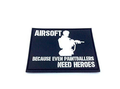 Airsoft Because Even Paintballers Need Heroes White Airsoft PVC Patch from Patch Nation
