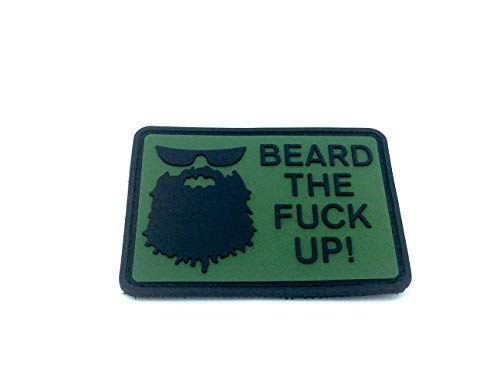 Beard The Fuck Up Airsoft Paintball Morale PVC Patch from Patch Nation