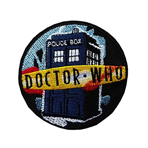 Dr Who Tardis Iron On Sew On Embroidered Cosplay Kids Fancy Dress Patch from Patch Nation