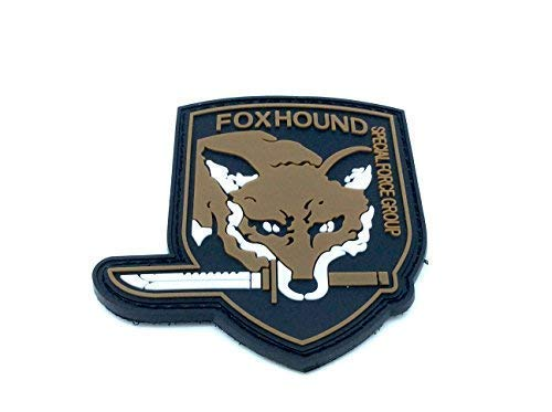 FoxHound Special Force Group Metal Gear Solid Airsoft Morale PVC Patch Brown from Patch Nation