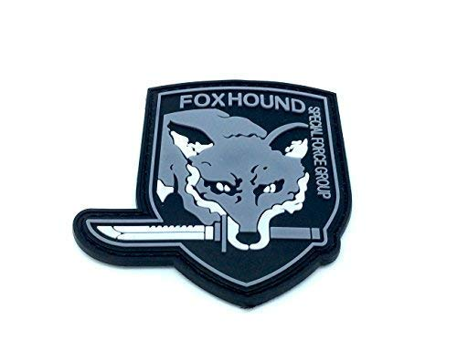 FoxHound Special Force Group Metal Gear Solid Airsoft PVC Patch Grey from Patch Nation
