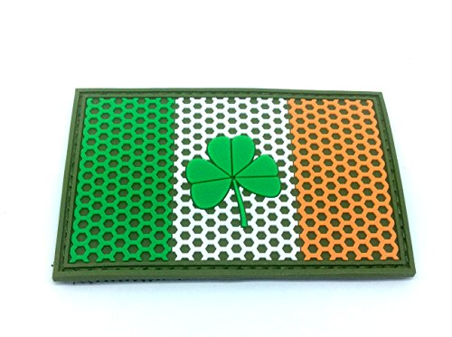 Ireland Irish Shamrock Mesh Crest Flag Airsoft Paintball PVC Morale Team Patch from Patch Nation