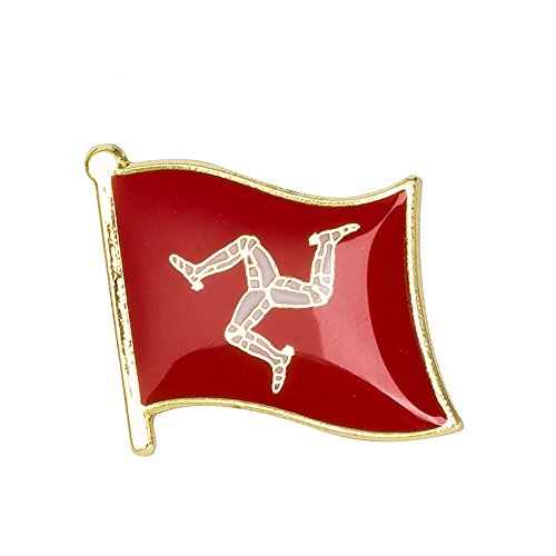 Patch Nation Isle Of Man Manx Flag Metal Pin Badge from Patch Nation