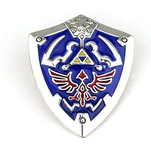 Legend of Zelda Triforce Shield Cosplay Metal Fan Pin Badge from Patch Nation