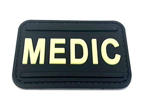 Medic First Aider Paramedic PVC Airsoft Paintball Patch (Glow in the Dark) from Patch Nation