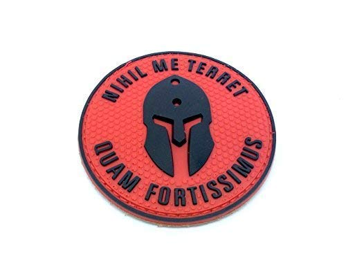 Nihil Me Terret Quam Fortissimus Spartan Red PVC Airsoft Patch from Patch Nation