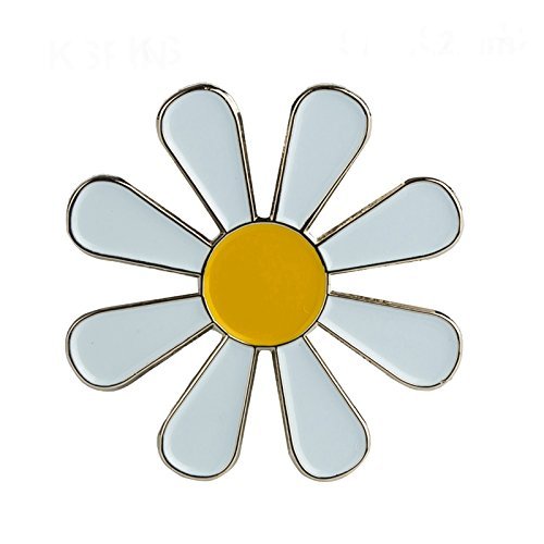 Patch Nation White Daisy Brooch Pin Badge from Patch Nation