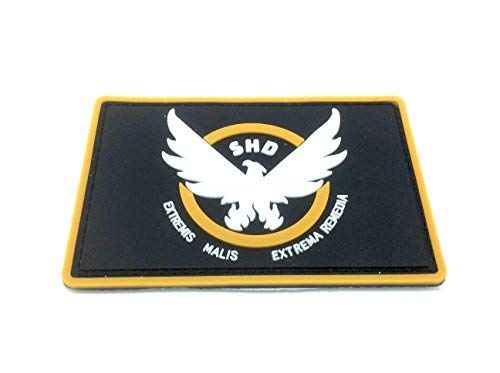 The Division SHD Extremis Malis Extrema Remedia Airsoft Paintball PVC Morale Team Patch from Patch Nation