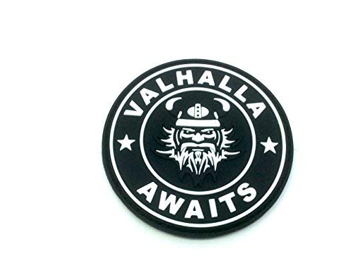 Valhalla Awaits Viking Black PVC Airsoft Paintball Patch from Patch Nation