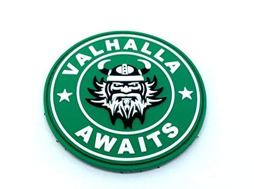 Valhalla Awaits Viking PVC Airsoft Paintball Patch from Patch Nation