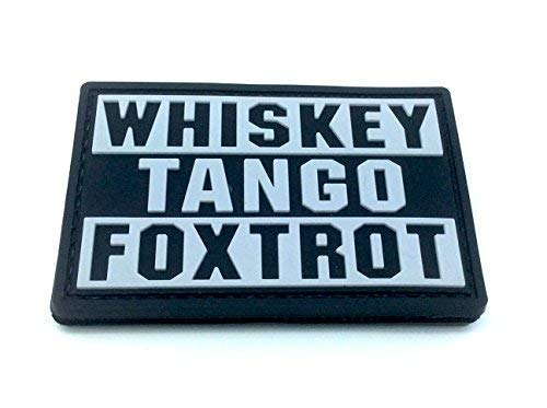 Whiskey Tango Foxtrot WTF Black PVC Airsoft Paintball Patch from Patch Nation