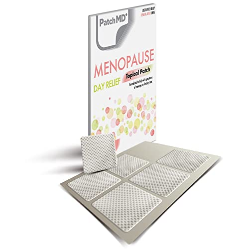 PatchMD Menopause Day ReliefTM - 30 Daily Topical Patches. 100% Natural & Vegan. Allergy & Filler Free. High Absorption More bioavailable. Suitable for Sensitive stomachs & bariatric. from PatchMD