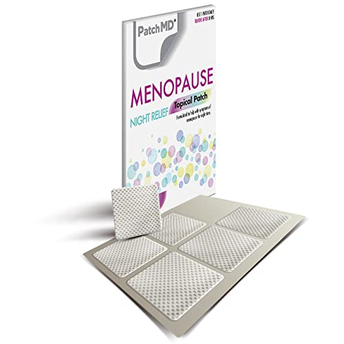 PatchMD Menopause Night ReliefTM 30 Daily Topical Patches. 100% Natural & Vegan. Allergy & Filler Free. High Absorption and More bioavailable. Suitable for Sensitive stomachs & bariatric. from PatchMD