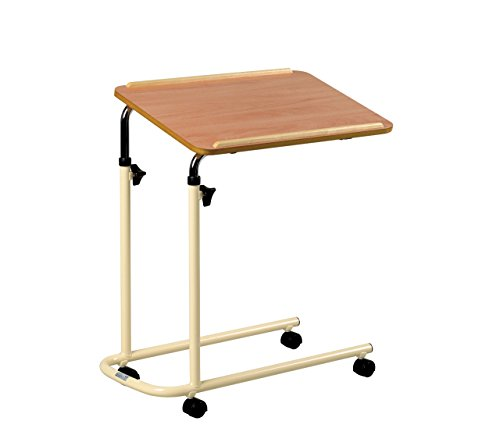 Days Overbed Table with Castors, Adjustable Height and Angle, Portable and Sturdy Laptop Desk with Wheels, Fully Adjustable Bed and Chair Table, Laminated Top, Fixed Version from Days