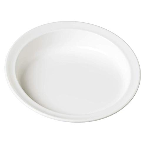 Patterson Medical Scoop Plate  23 cm/ 9-inch Diameter - White (Eligible for VAT relief in the UK) from Patterson Medical
