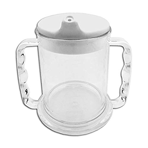 Patterson Medical Transparent Two Handled Wide Base Mug 285 ml (Eligible for VAT relief in the UK) from Patterson Medical
