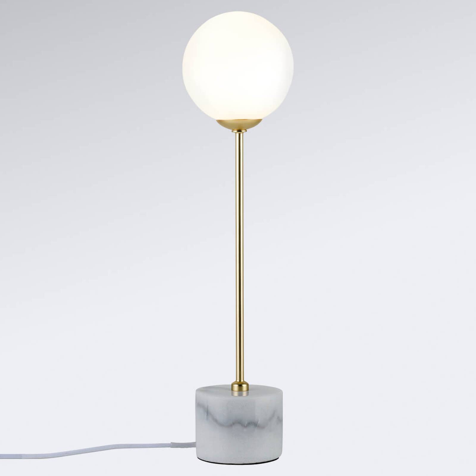 Moa- puristic table lamp with marble socket from Paulmann