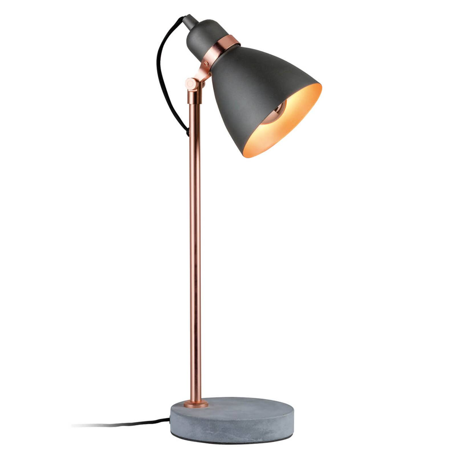 Modern table lamp Orm with concrete base from Paulmann