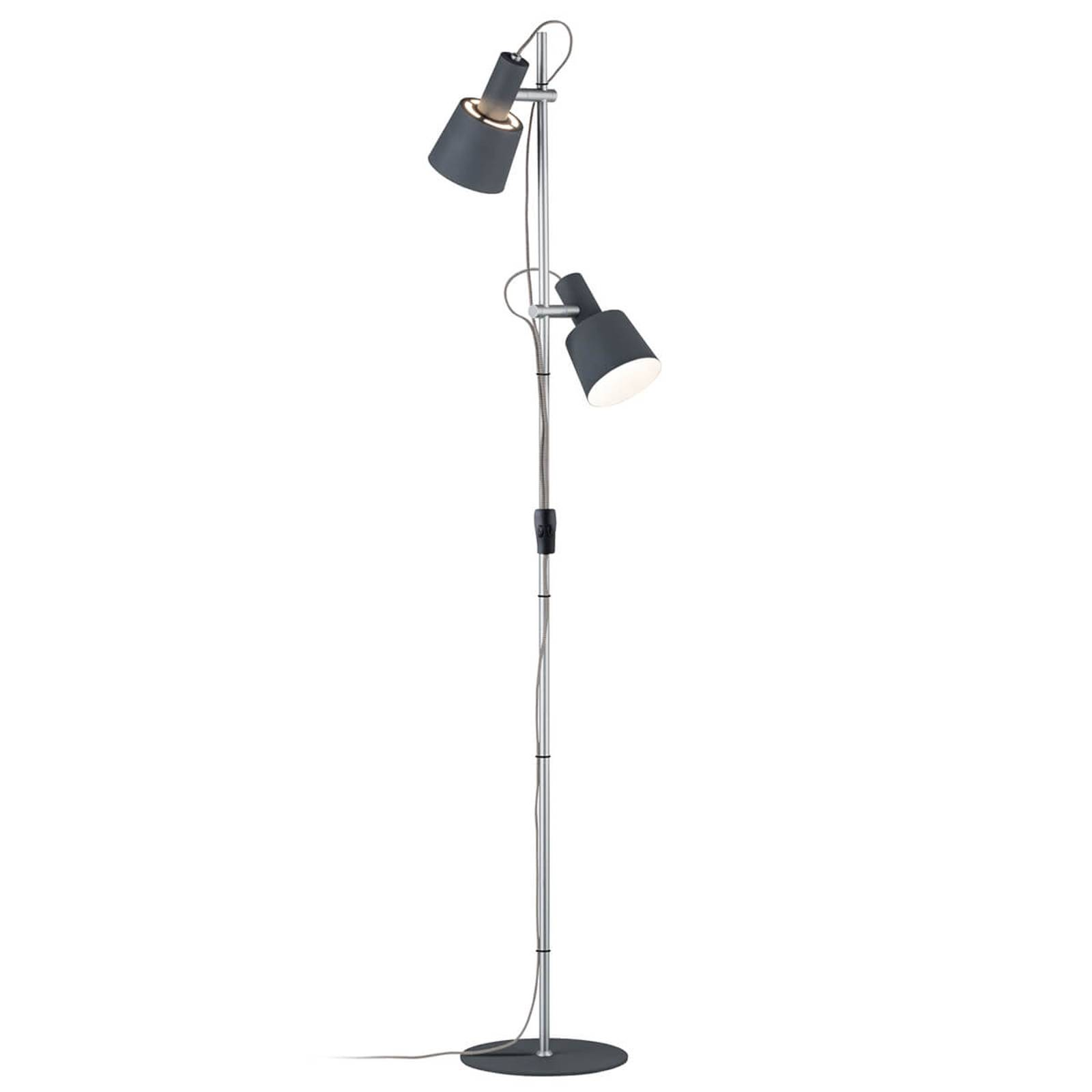Two-bulb floor lamp Haldar, colour combination from Paulmann