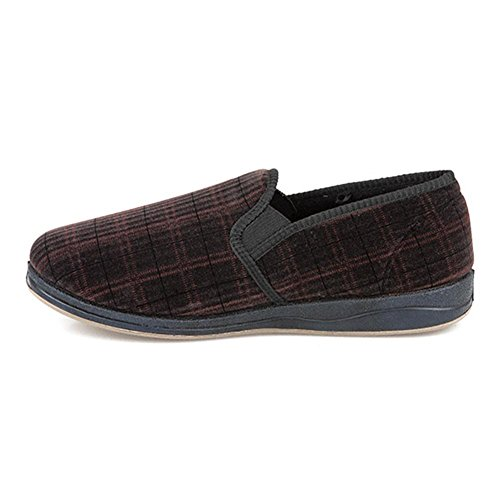 Pavers Full Slipper 305 623 - Burgundy Size 7 from Pavers