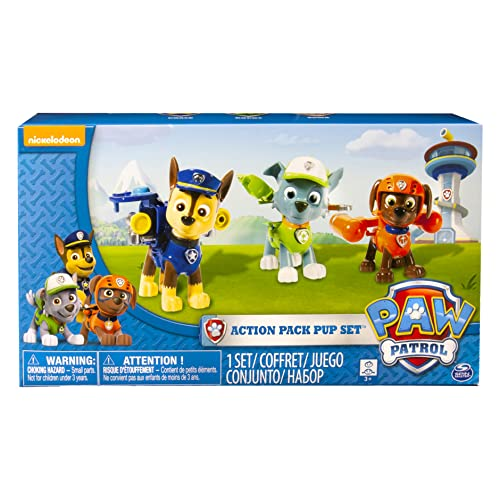 PAW PATROL 6024061 - Action Pack Pup Figures Set of 3 - Version 2 (Chase, Rocky, Zuma) from PAW PATROL