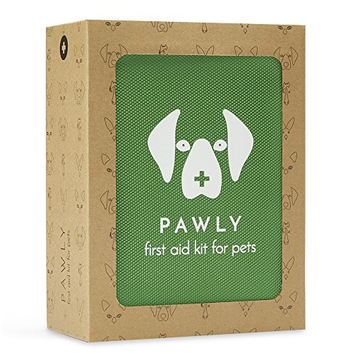 Pawly Pet First Aid Kit - Includes Over 40 Premium Items - Tick Remover, Syringe, Bandages, Wipes Lancets from Pawly