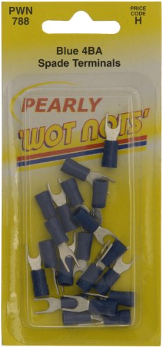 Pearl PWN788 4BA Spade Wiring Connectors -Blue (Pack of 25) from Pearl