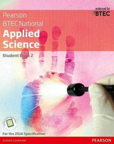 BTEC National Applied Science Student Book 2 (Btec Nationals Applied Science) from Pearson Education Limited